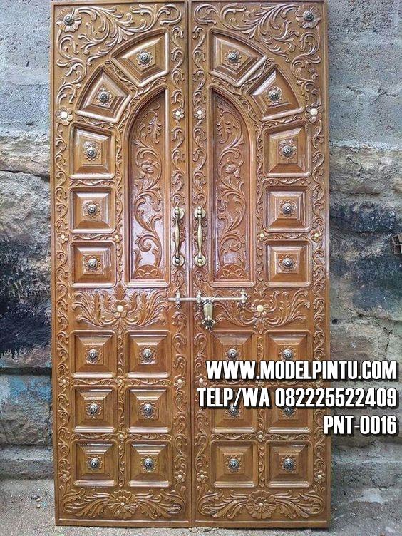 Pintu Masjid Jati Ukiran Cantik