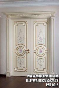 Pintu Utama Rumah Mewah Cat Duco