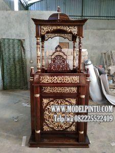 Mimbar Masjid Jati Minimalis Mewah