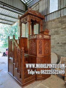 Mimbar Masjid Mewah Ukiran Jepara Jati