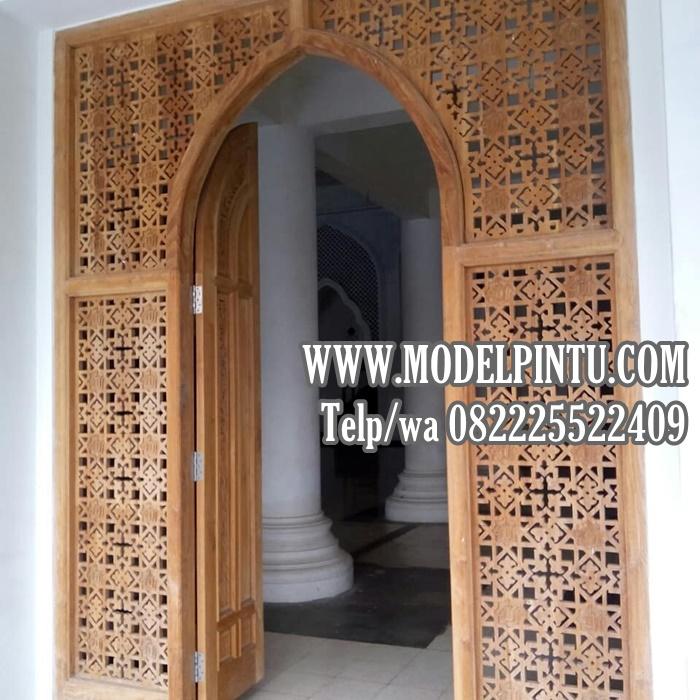 Model Pintu Kusen Masjid Kayu Jati Minimalis