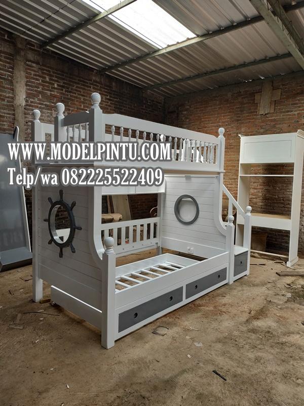 Model Tempat Tidur Tingkat Anak Jati Duco
