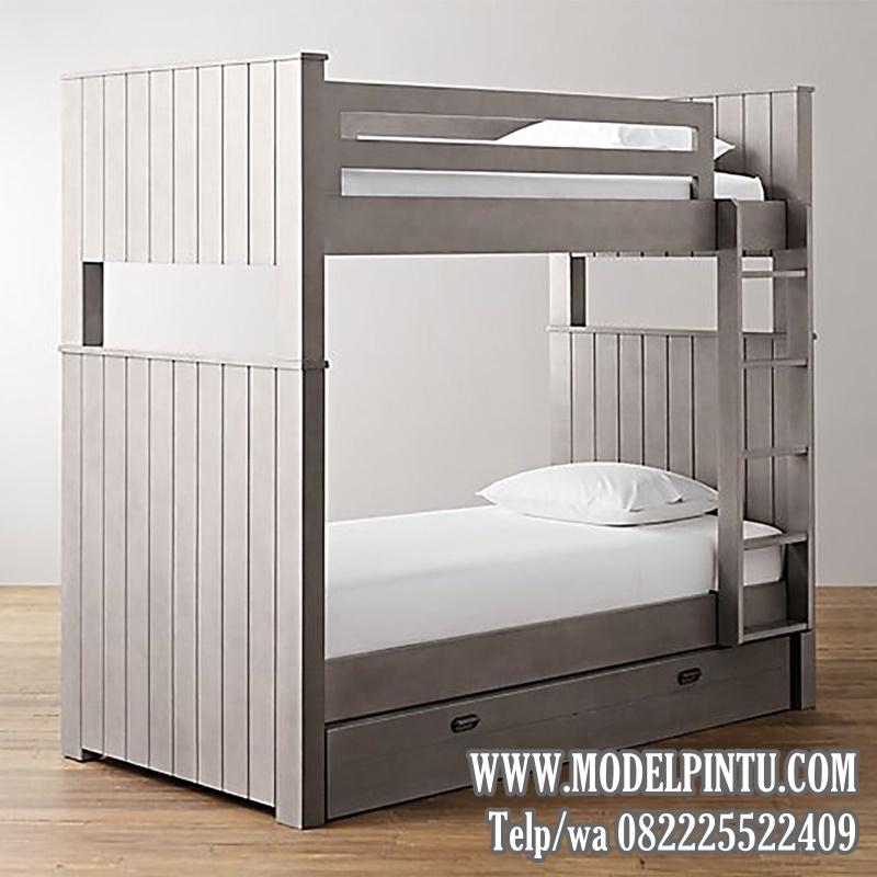 Model Tempat Tidur Tingkat Minimalis Cat Duco