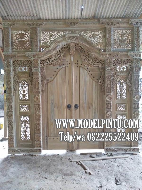 Pintu Utama Rumah Mewah Model Gebyok Jati A