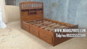 Tempat Tidur Anak Laci Minimalis Jati