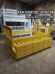 Tempat Tidur Anak Laci Minimalis Sorong Warna Kuning