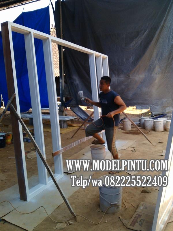 Jual Model Pintu Kusen Rumah Mewah Minimalis Kayu Jati