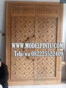 Jual Pintu Masjid Kayu Jati Ukiran Model Nabawi
