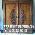 Model Daun Pintu Jati Klasik Kuno Ukiran Mewah