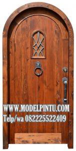 Model Pintu Kusen Kayu Jati Lengkung Untuk Kamar