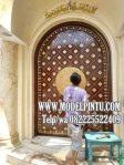 Model Pintu Masjid Kayu Jati Ukiran Kaligrafi Arabian