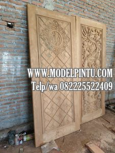 Pintu Masjid Kayu Jati Model Kaligrafi