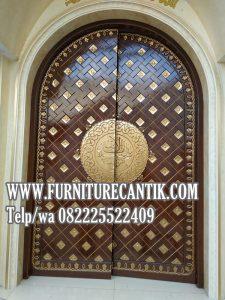 Pintu Masjid Nabawi Jati Klasik Ukir