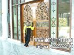 Pintu Utama Masjid Jati Ukiran Jepara