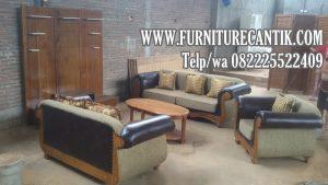 Set Kursi Tamu Sofa Jati Ukiran Cantik