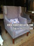 Kursi Sofa Santai Jati Kain Bludru Bagus