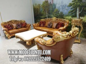 Kursi Tamu Jati Royal Bacelona Mewah
