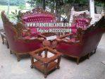 Model Kursi Sofa Ruang Tamu Jati Mewah Ukiran Klasik