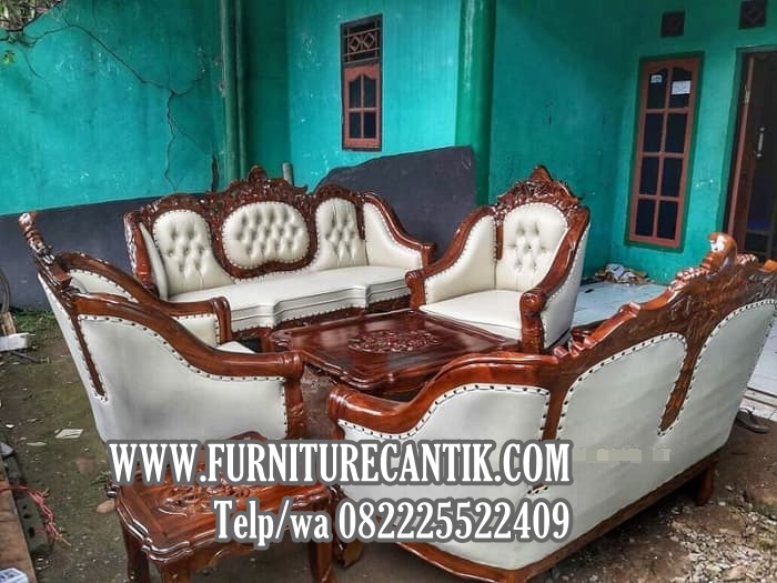 Model Kursi Tamu Sofa Jati Ukiran Mewah Terbaru