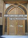 Model Pintu Kusen Masjid Kayu Jati Asli Jepara