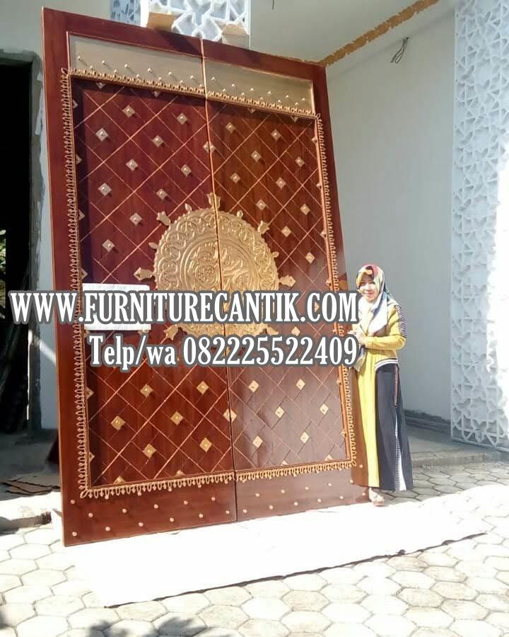 Model Pintu Kusen Masjid Kayu Jati Bagus