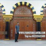 Model Pintu Kusen Masjid Kayu Jati TPK Solid Ukir