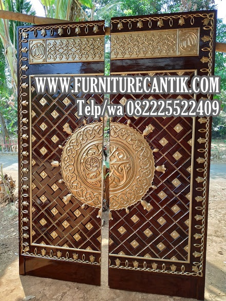 Model Pintu Masjid Kayu Jati Replika Nabawi