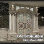 Model Pintu Utama Rumah Mewah Jati Klasik Antik