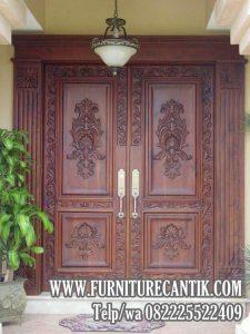 Model Pintu Utama Rumah Mewah Jati TPK