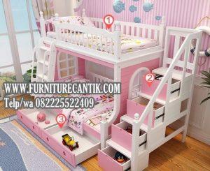 Model Tempat Tidur Anak Dari Kayu Jati