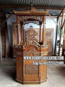 Model Mimbar Masjid Jati Jepara Terbaru