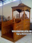 Model Mimbar Masjid Kayu Jati Minimalis