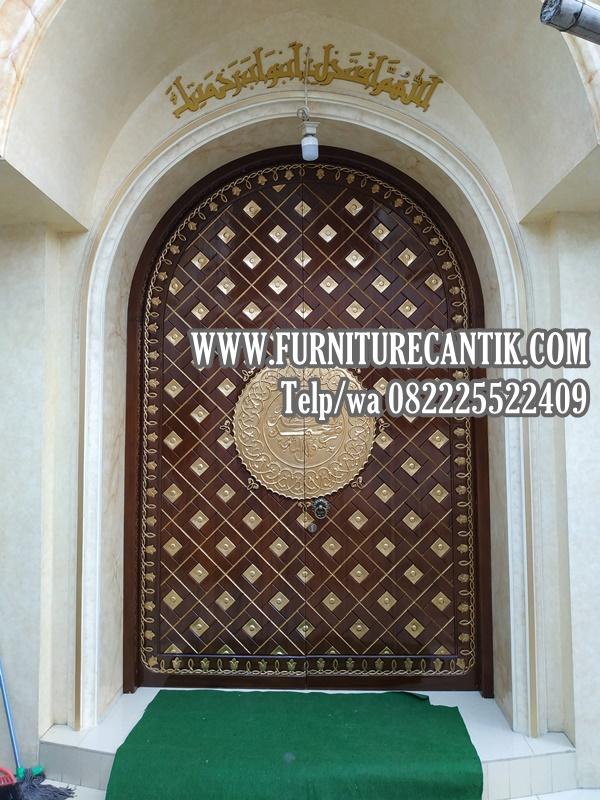 Model Pintu Masjid Kayu Jati Model Lengkung