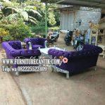 Model Sofa Ruang Tamu Jati Mewah Kain Bludru