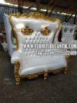 Kursi Sofa Jati Dua Dudukan Model Raja