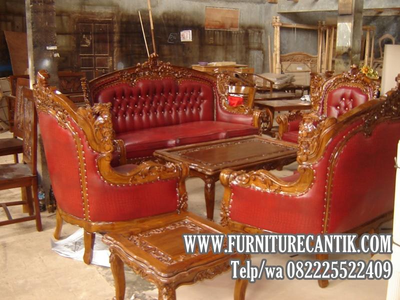 Sofa Jati Ruang Tamu Utama Mewah