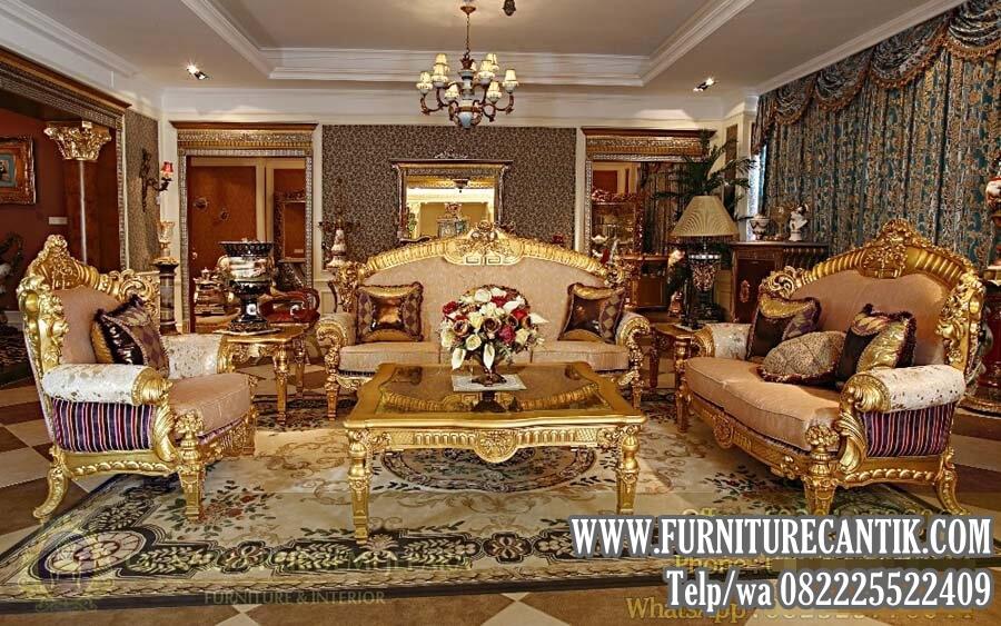 Jual Model Sofa Ruang Tamu Mewah Ukiran