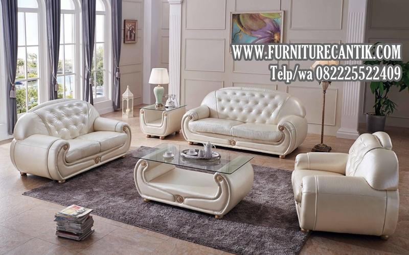 Model Sofa Ruang Tamu Mewah Kerangka Kayu Jati