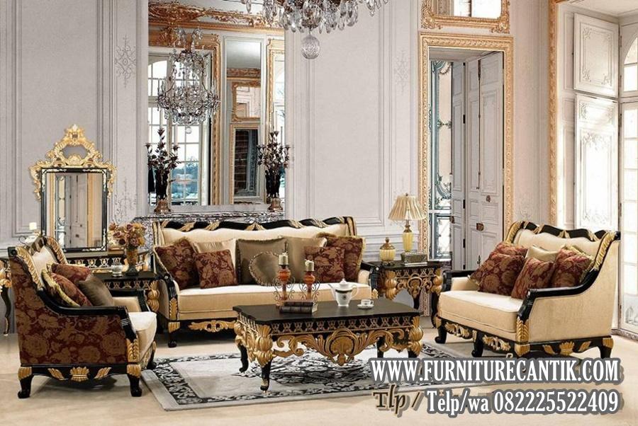 Model Sofa Ruang Tamu Mewah Ukiran Terbaru Jepara