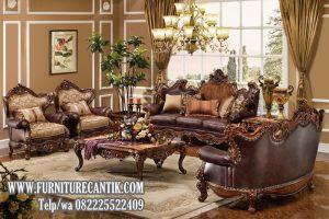 Model Sofa Tamu Ukiran Mewah Klasik Terbaru