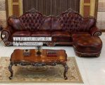 Jual Set Sofa Ruang Tamu Mewah Sudut Jati