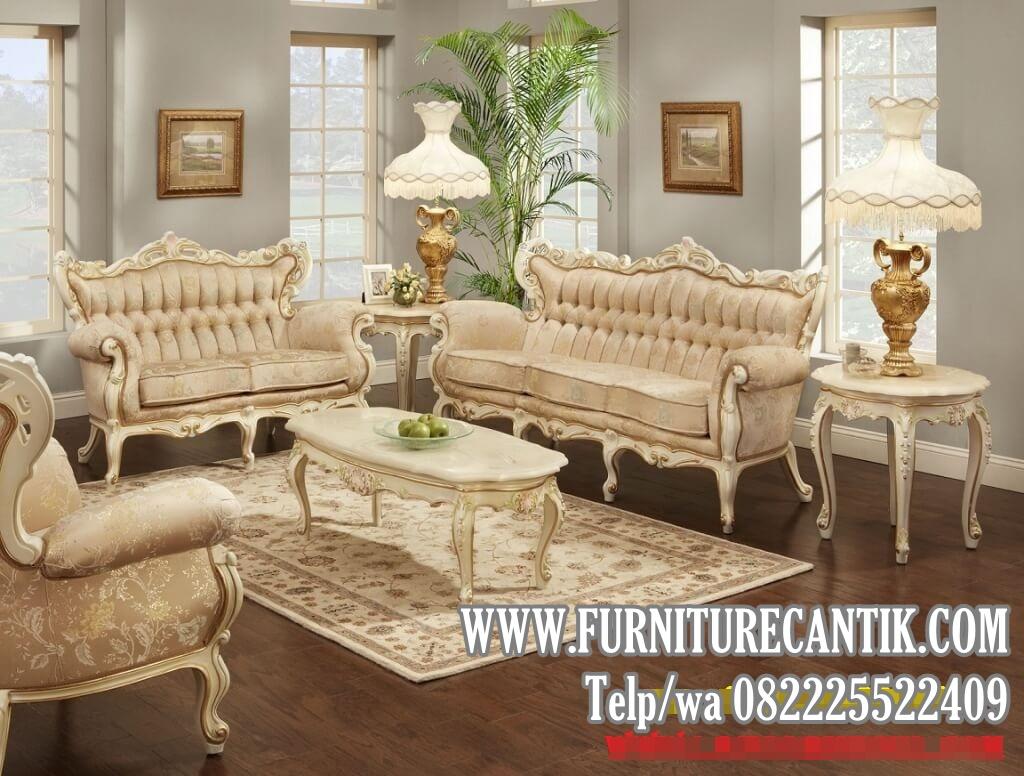 Model Sofa Ruang Tamu Ukiran Mewah Kayu Jati Model Klasik