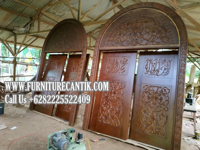 Model Pintu Masjid Kayu Jati Kualitas Terbaik
