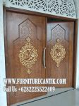 Model Pintu Utama Masjid Kayu Jati Solid