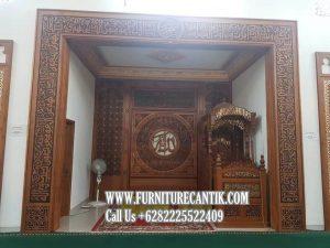 Model Mimbar Khutbah Masjid Dan Mihrab
