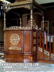 Model Mimbar Masjid Jati Atap Kubah Jepara