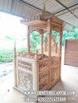 Model Mimbar Masjid Kayu Jati Buatan Jepara