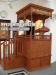 Model Mimbar Masjid Mewah Kayu Jati