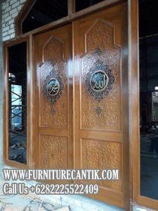 Model Pintu Masjid Jati Terbaik