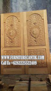 Model Pintu Masjid Jati Ukiran Asli Jepara